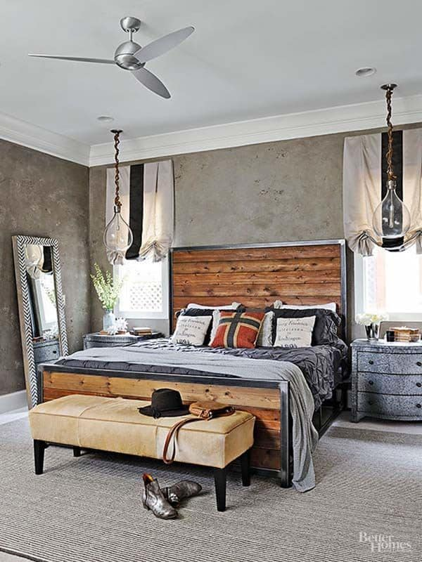 Industrial Style Bedroom Design Ideas-11-1 Kindesign