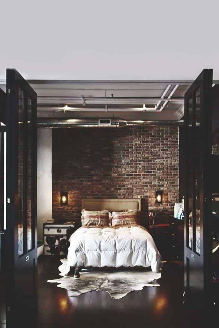 Industrial Style Bedroom Design Ideas-15-1 Kindesign