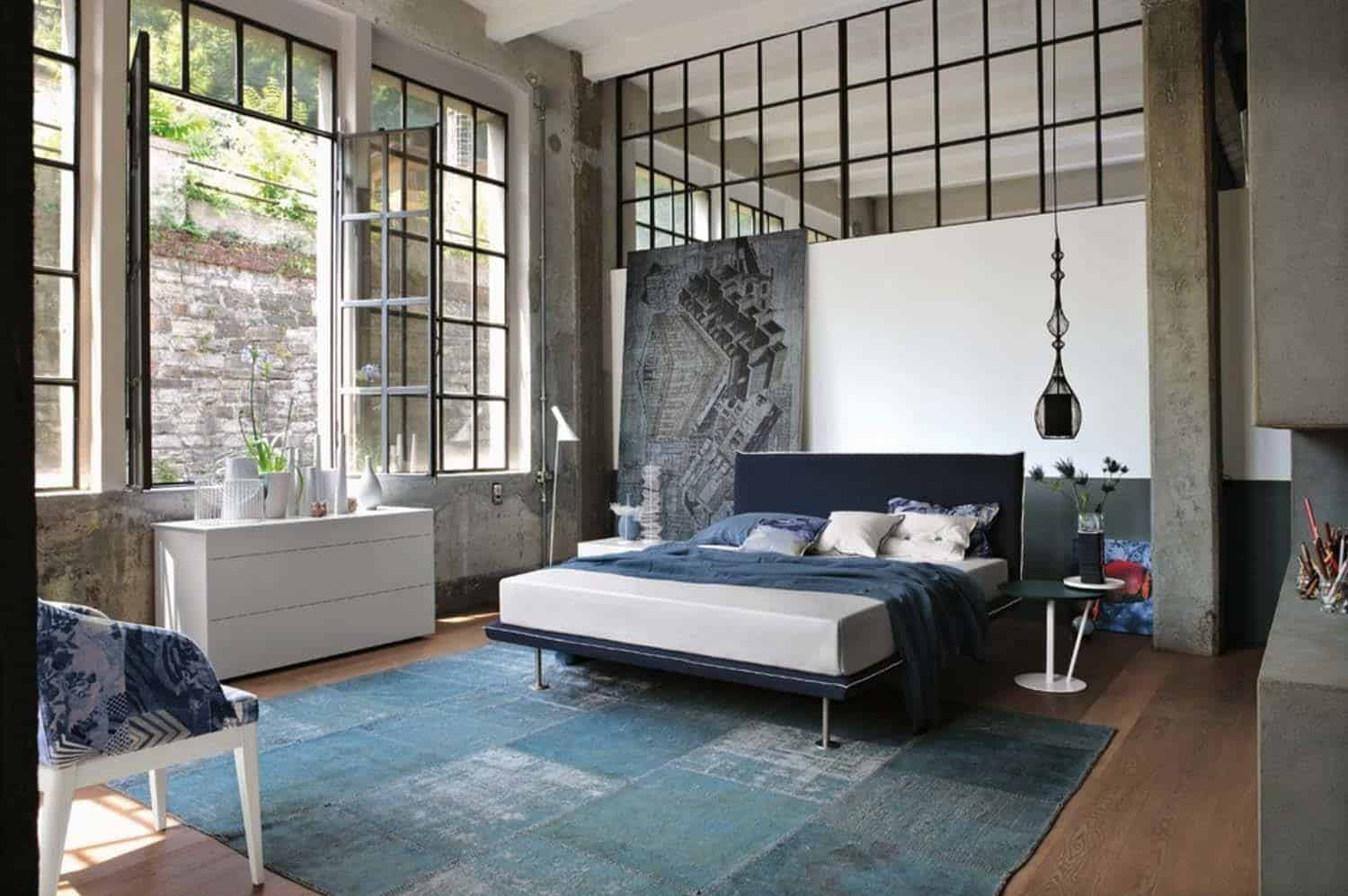 Industrial Style Bedroom Design Ideas-16-1 Kindesign