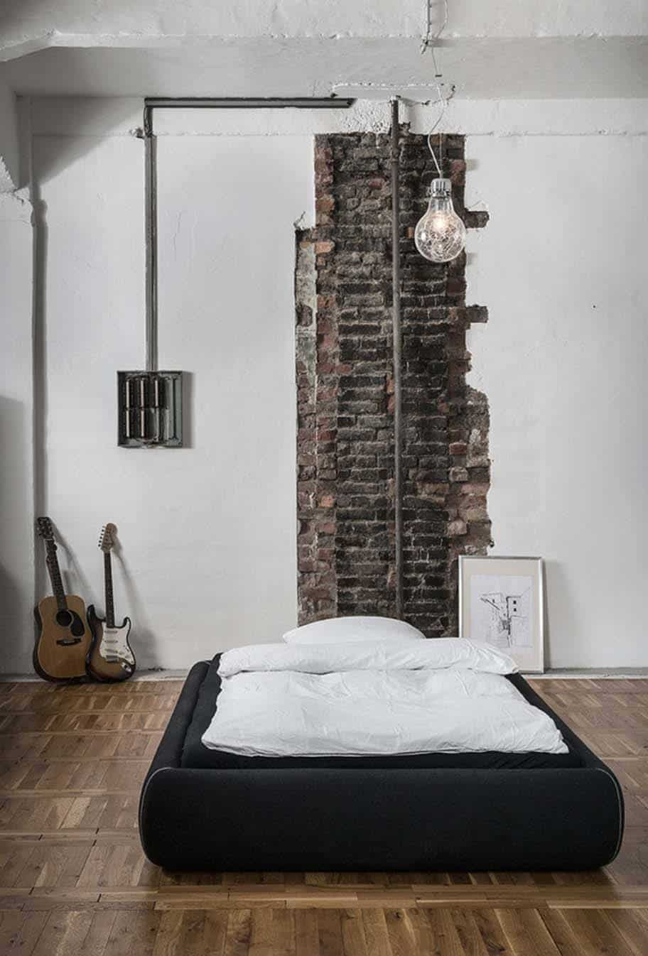 Lovely Industrial Style Bedroom Design Ideas 18 1 Kindesign