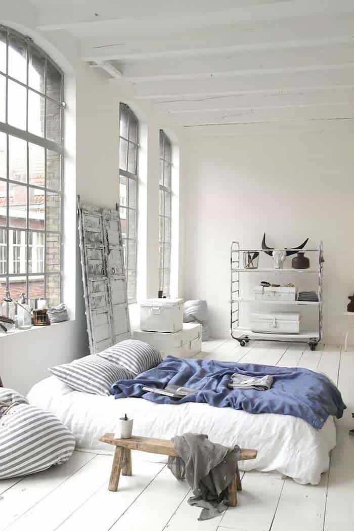 Industrial Style Bedroom Design Ideas-19-1 Kindesign