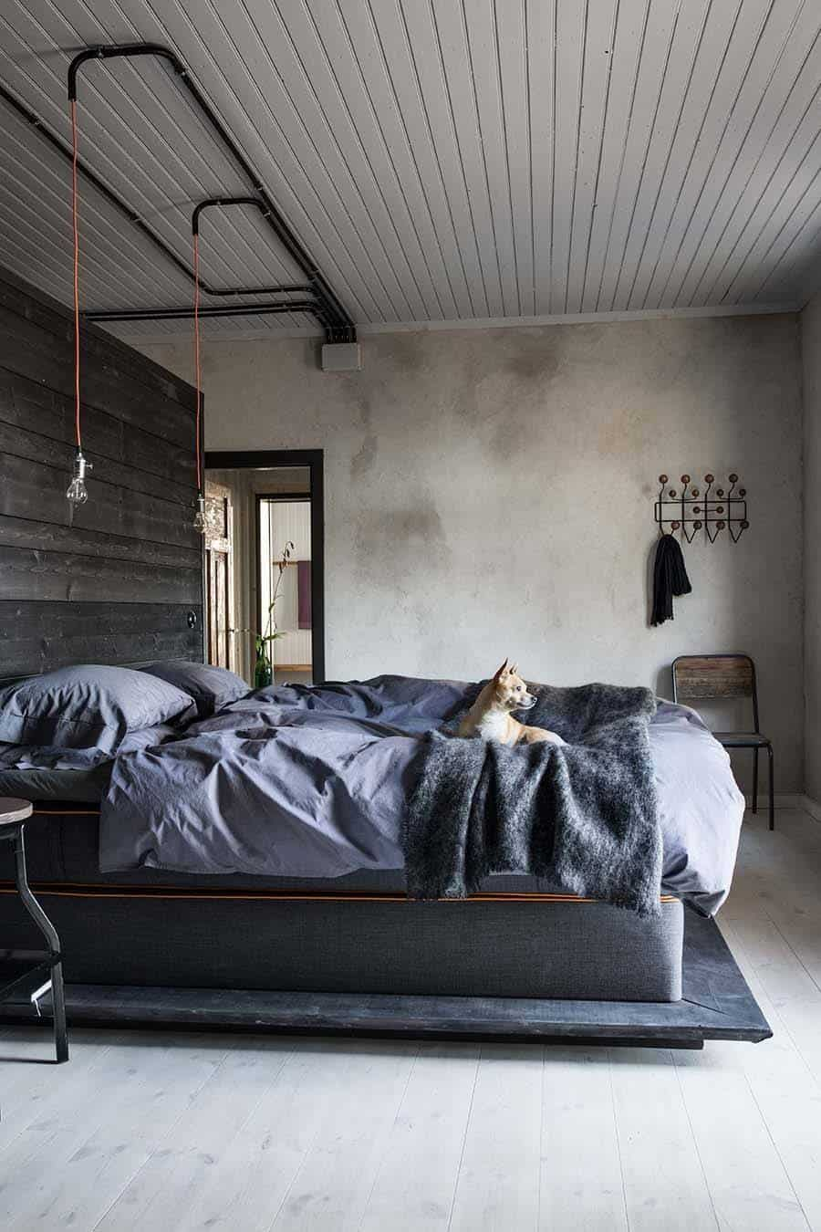 Industrial Style Bedroom Design Ideas-35-1 Kindesign