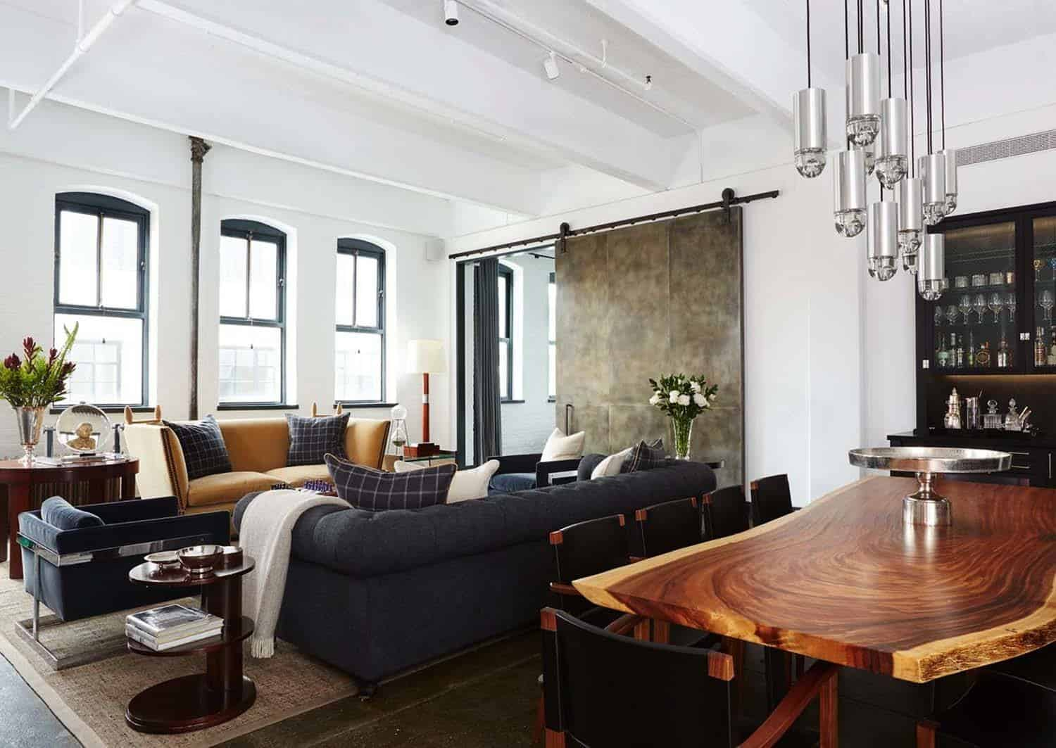 Warehouse loft conceived for a bachelor in new york city for An interior decorator