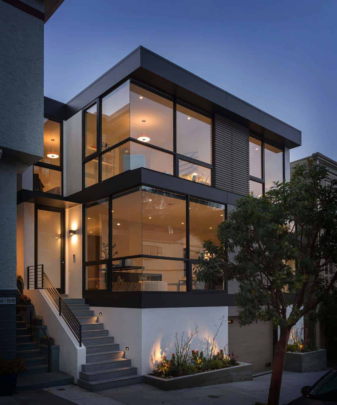 Modern Architecture Home Design: Sleek And Contemporary Four-level Home In San Francisco