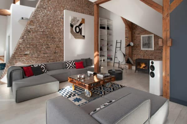 featured posts image for Open and spacious loft designed for a bachelor in Poland