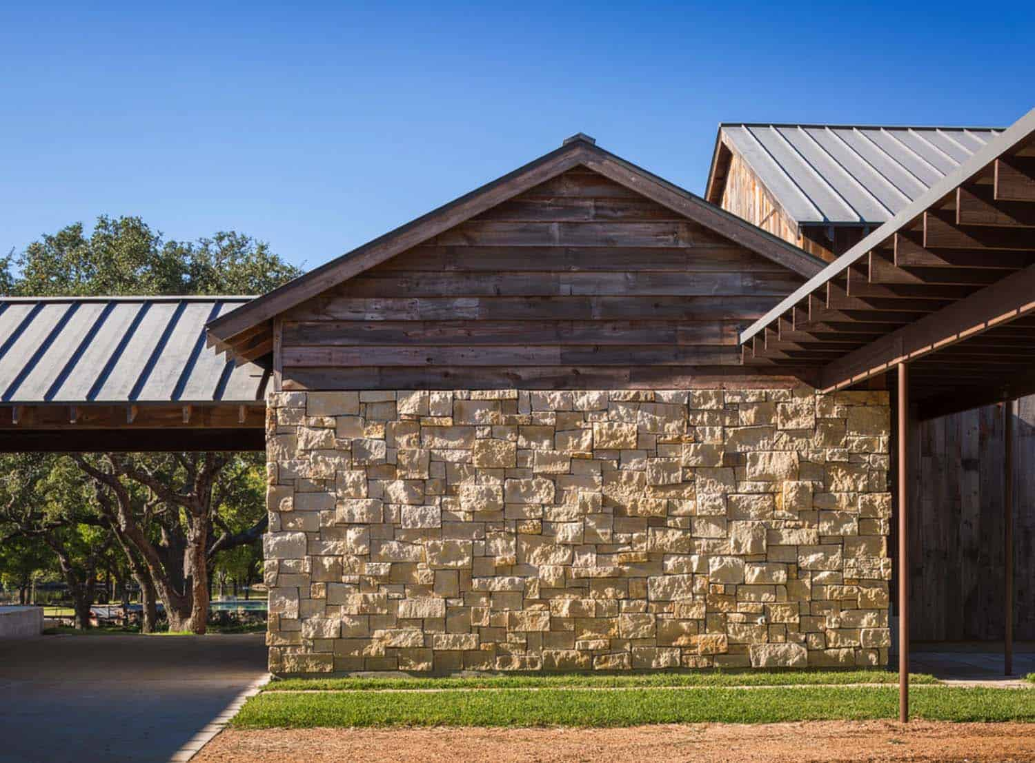 Modern Rustic Barn Retreat Texas on Texas Hill Country Ranch House Plans