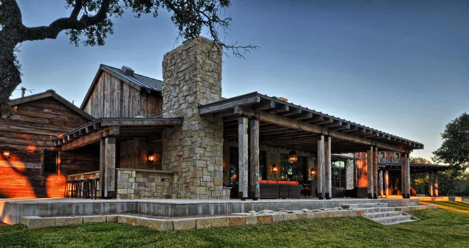Modern rustic barn style retreat in texas hill country for Texas house designs