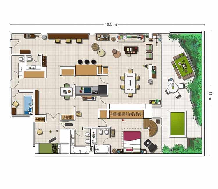 Courtyard House Design-18-1 Kindesign