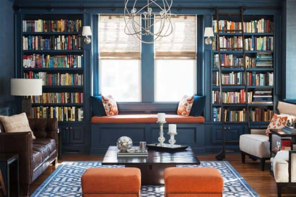featured posts image for 36 Fabulous home libraries showcasing window seats