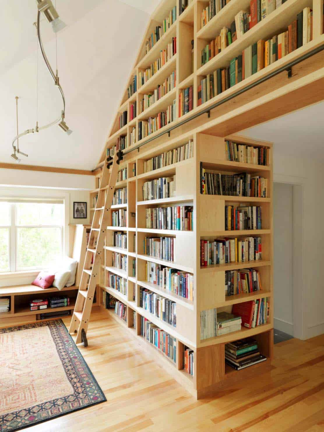 Home Library Design: 36 Fabulous Home Libraries Showcasing Window Seats