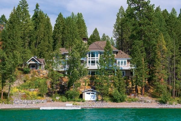 featured posts image for Luminous three-story, shingle-style cottage on Whitefish Lake