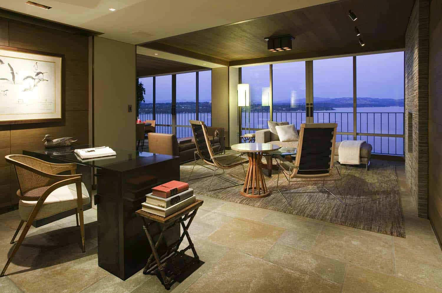 Condo capturing views over Lake Washington gets sleek makeover