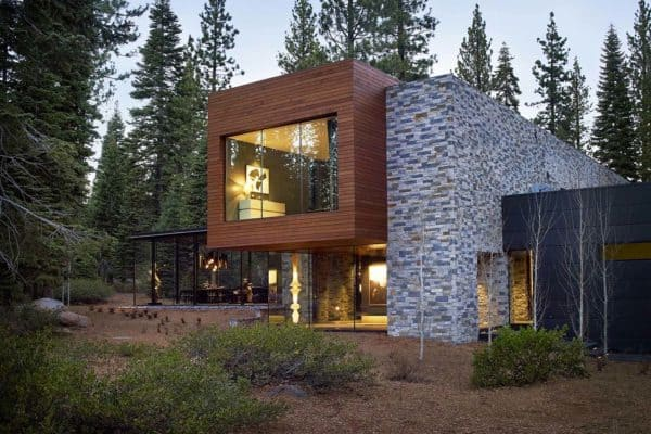 featured posts image for Modernist refuge of stone, wood, steel and glass in Martis Camp