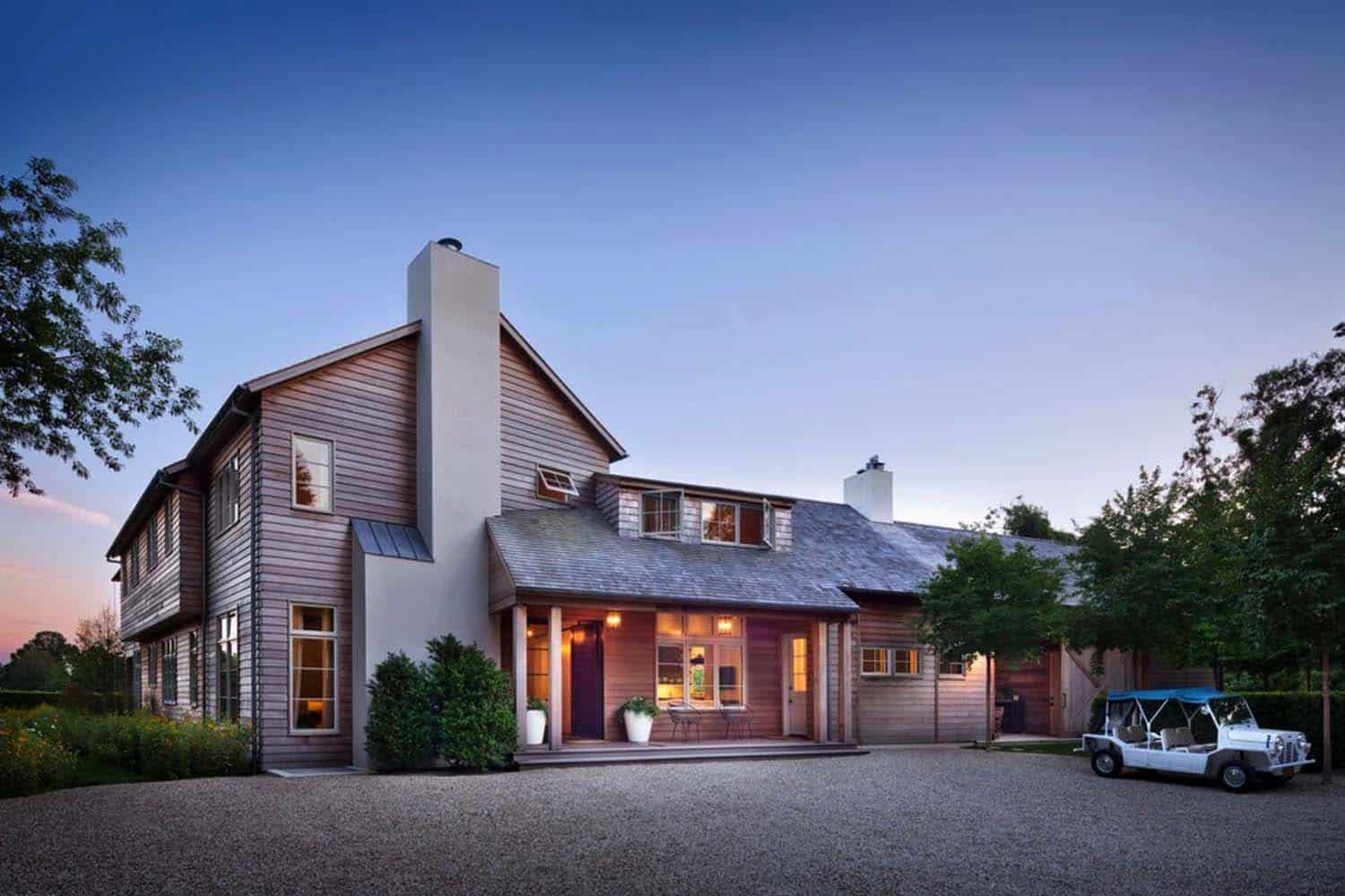 Breathtaking modern farmhouse design in east hampton for Barn architecture plans