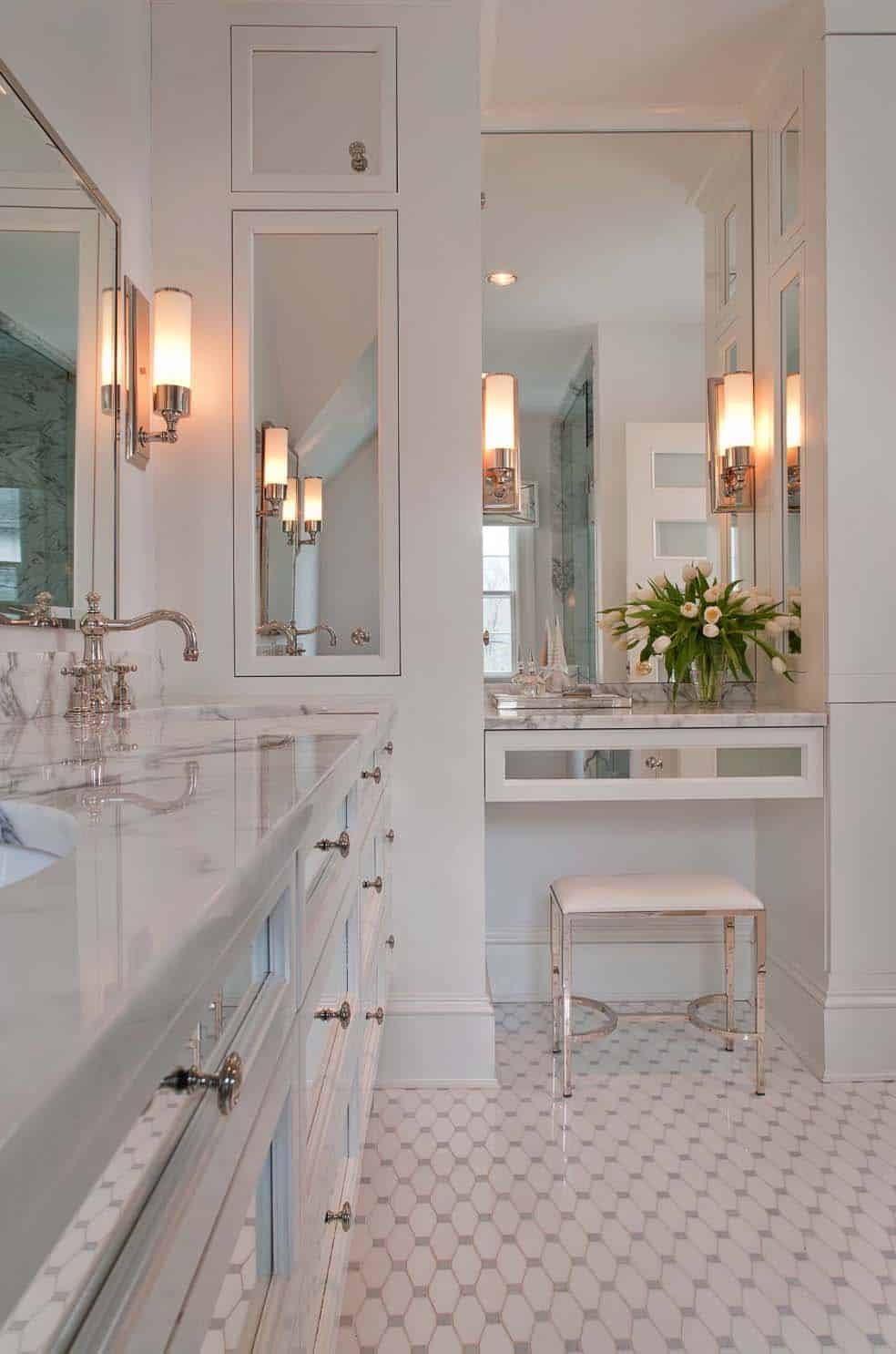 53 most fabulous traditional style bathroom designs ever - White bathroom ideas photo gallery ...