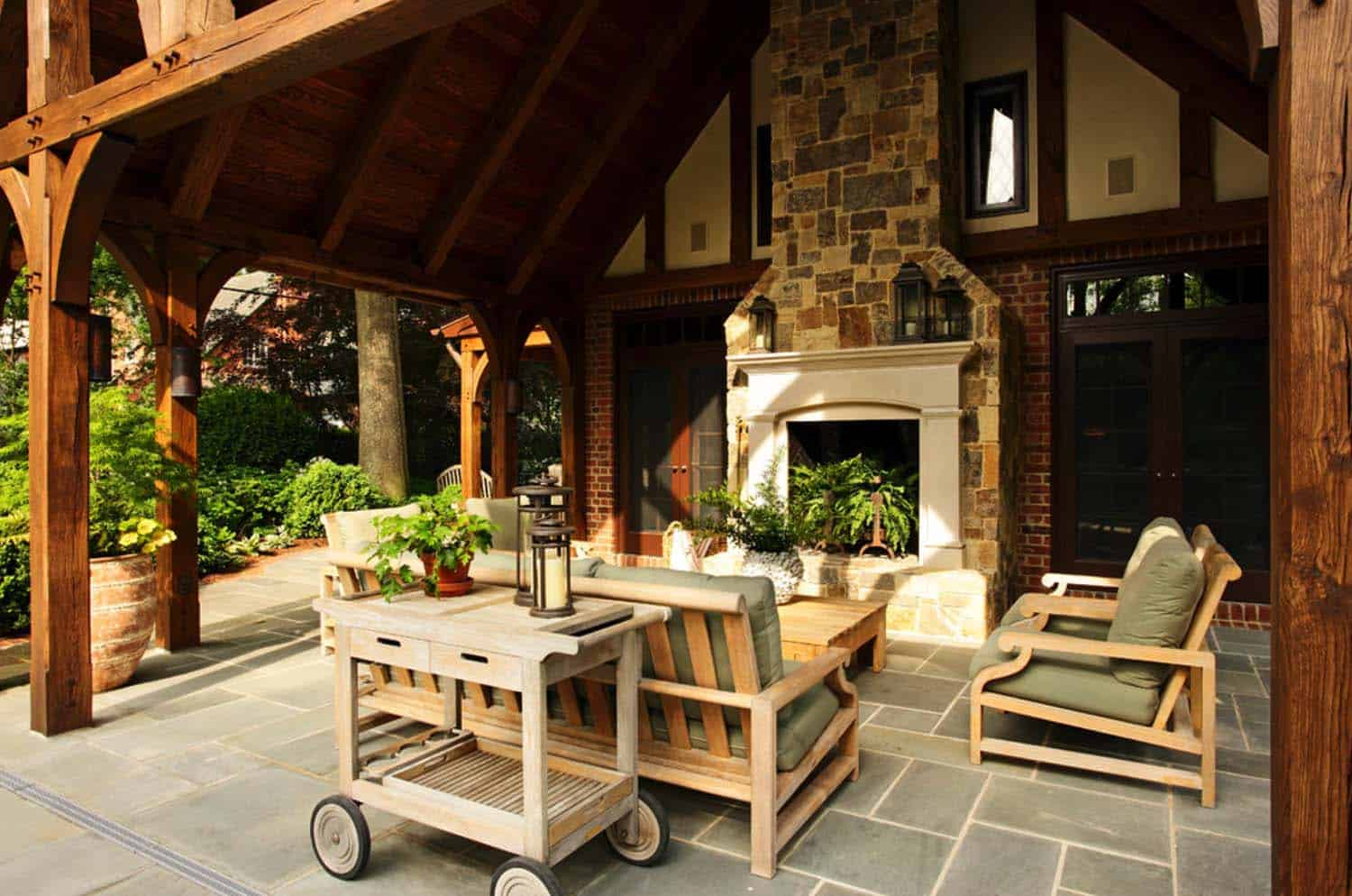 44 Traditional outdoor patio designs to capture your ... on Small Outdoor Covered Patio Ideas id=55914