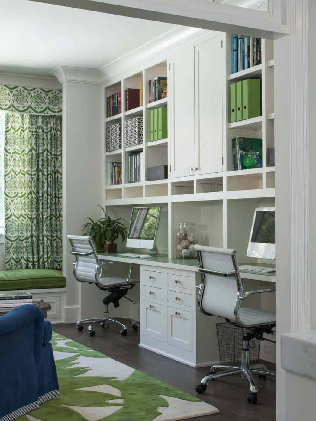 28 dreamy home offices with libraries for creative inspiration. Black Bedroom Furniture Sets. Home Design Ideas