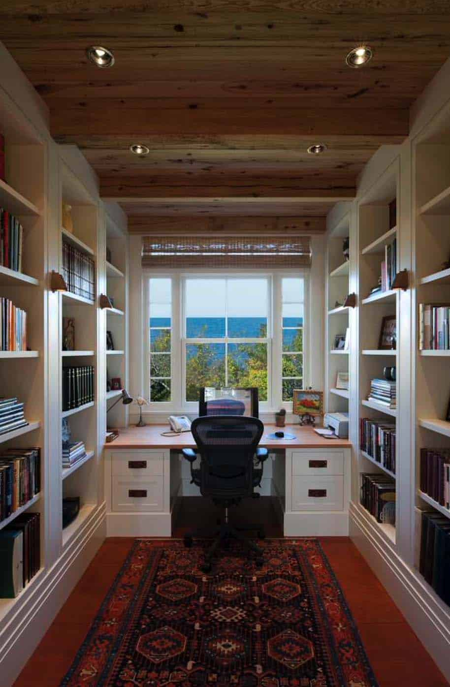 Home Library Design: 28 Dreamy Home Offices With Libraries For Creative Inspiration
