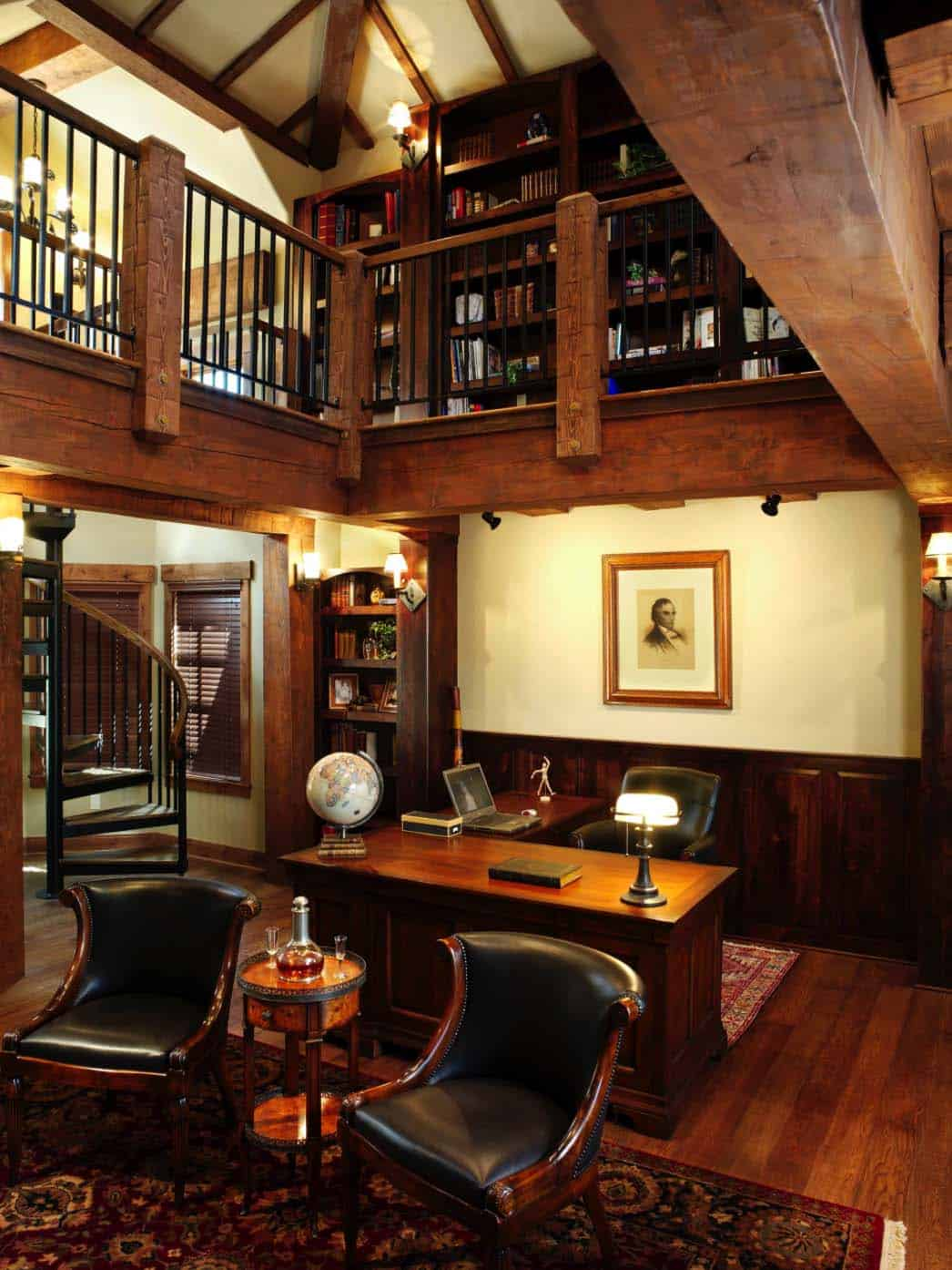 Home Office Lounge Ideas: 28 Dreamy Home Offices With Libraries For Creative Inspiration