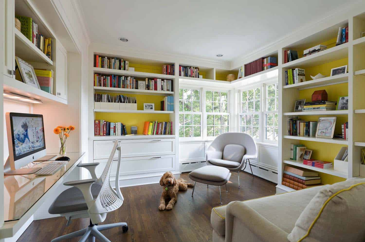 Home Office Library Ideas-15-1 Kindesign