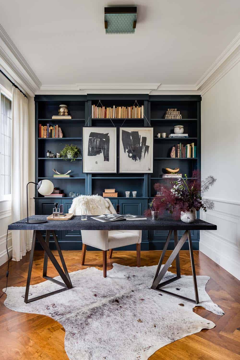 gray home office. Home Office Library Ideas-17-1 Kindesign Gray G