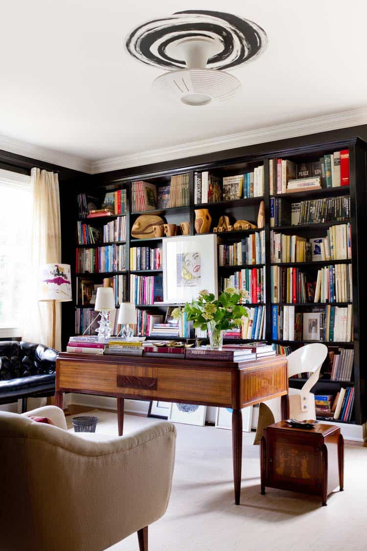 Home Office Library Ideas-27-1 Kindesign