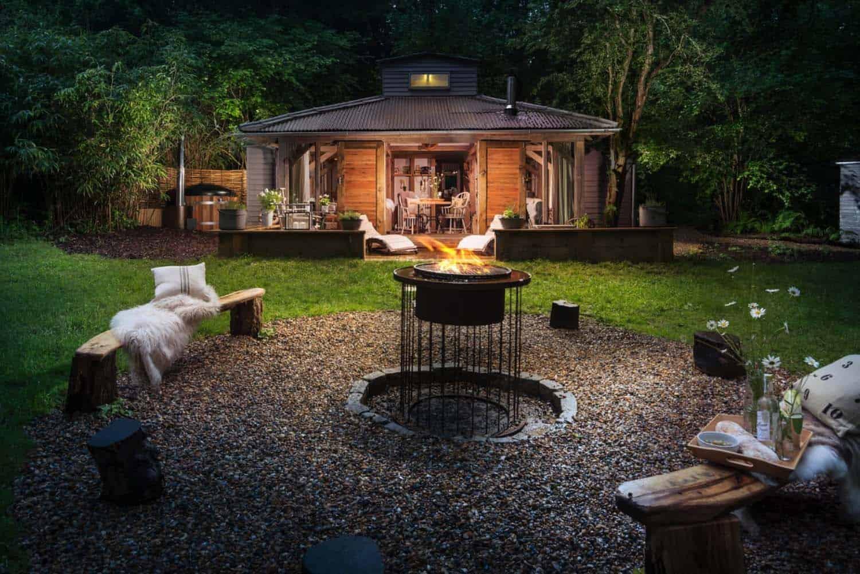 Dreamy luxury woodland cabin in west sussex little bear for Garden house design west sussex