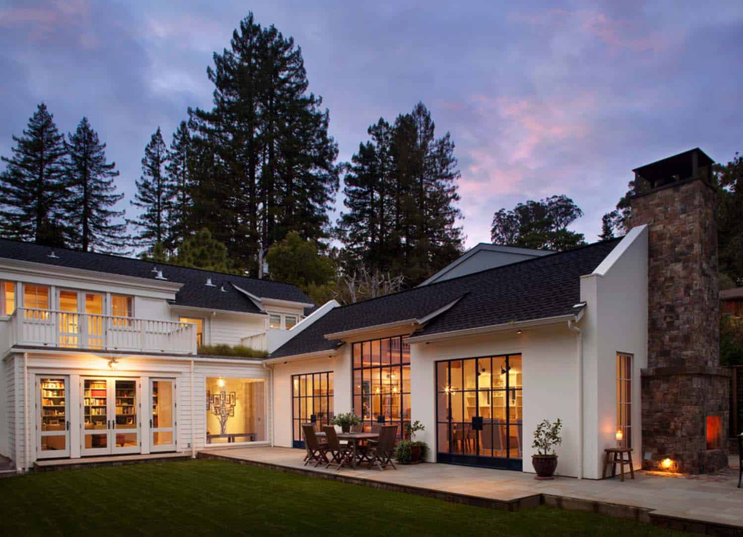 Chic modern farmhouse style in mill valley california for T shaped farmhouse floor plans