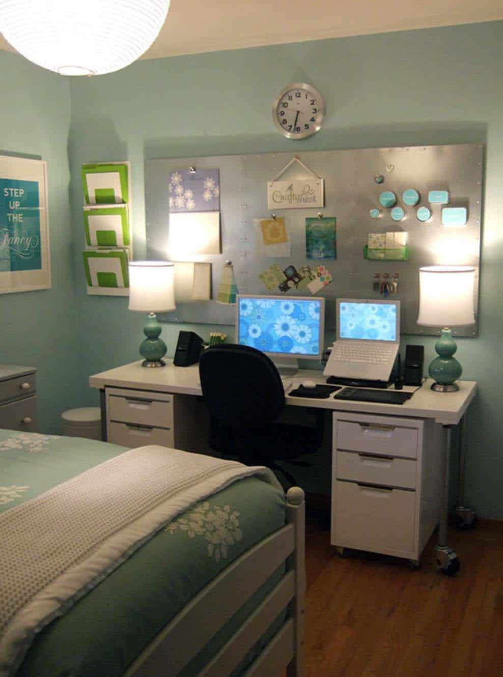 Home Office Room Design: 25 Fabulous Ideas For A Home Office In The Bedroom