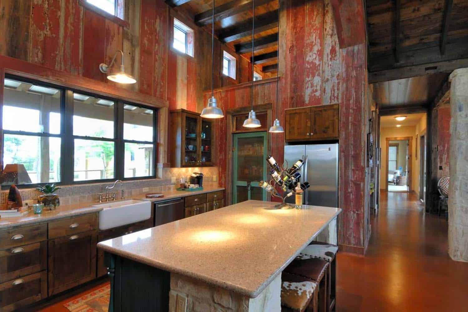 kitchen designs for ranch style homes rustic ranch house designed for family gatherings in 285