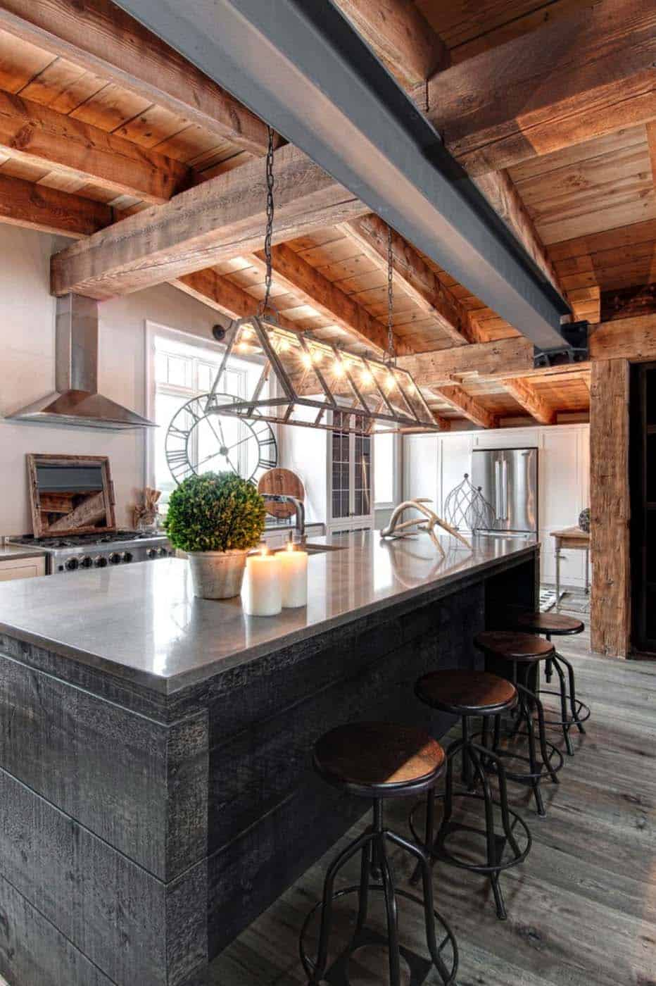 Luxury canadian home reveals splendid rustic modern aesthetic for Modern rustic house plans