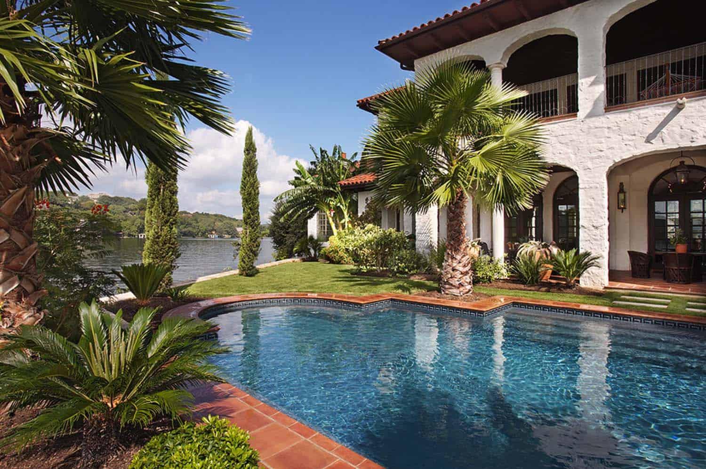 Mediterranean Style Lake House-Cornerstone Architects-05-1 Kindesign