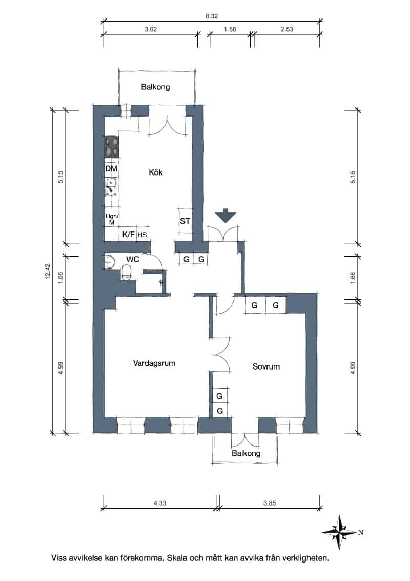 Small One Bedroom Apartment Interior-31-1 Kindesign
