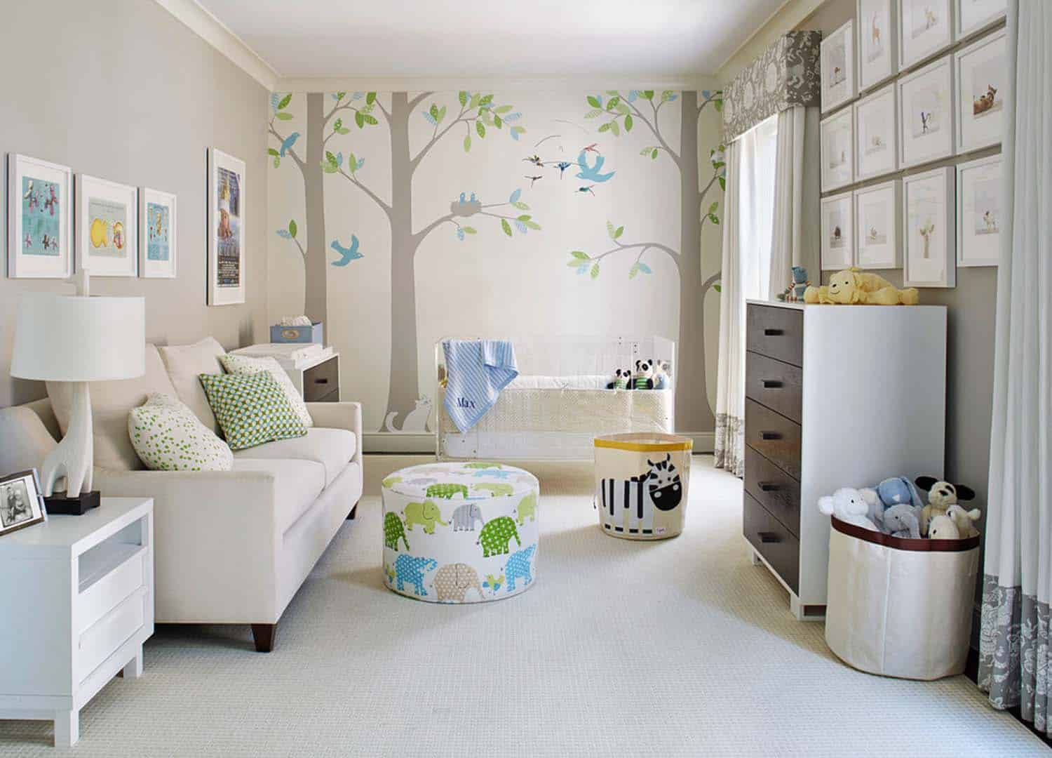 Stylish Nursery Decorating Ideas-04-1 Kindesign
