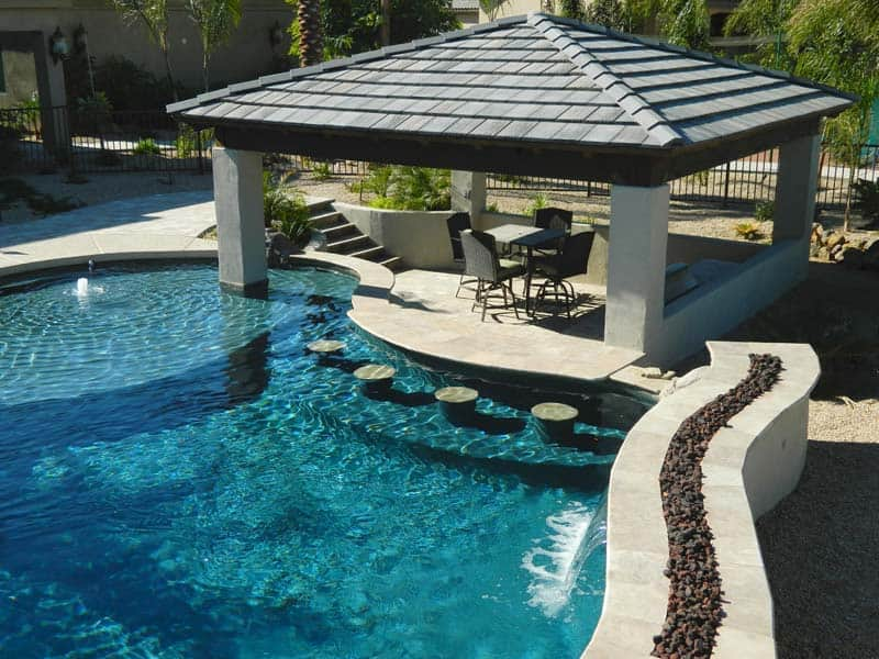 swim up pool bar designs outdoor