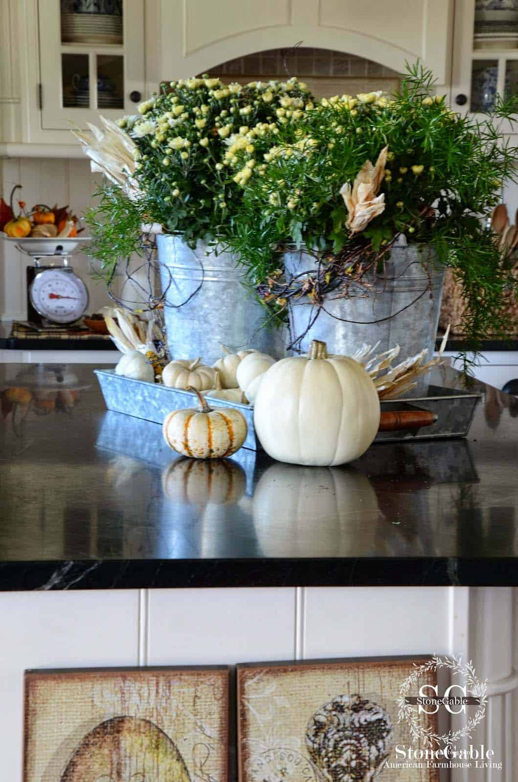 Decorating A Kitchen Island For Fall