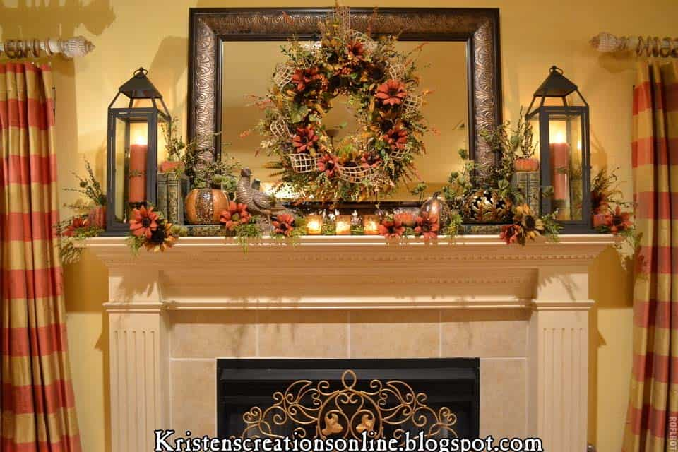 Super 30 Amazing Fall Decorating Ideas For Your Fireplace Mantel Home Interior And Landscaping Dextoversignezvosmurscom