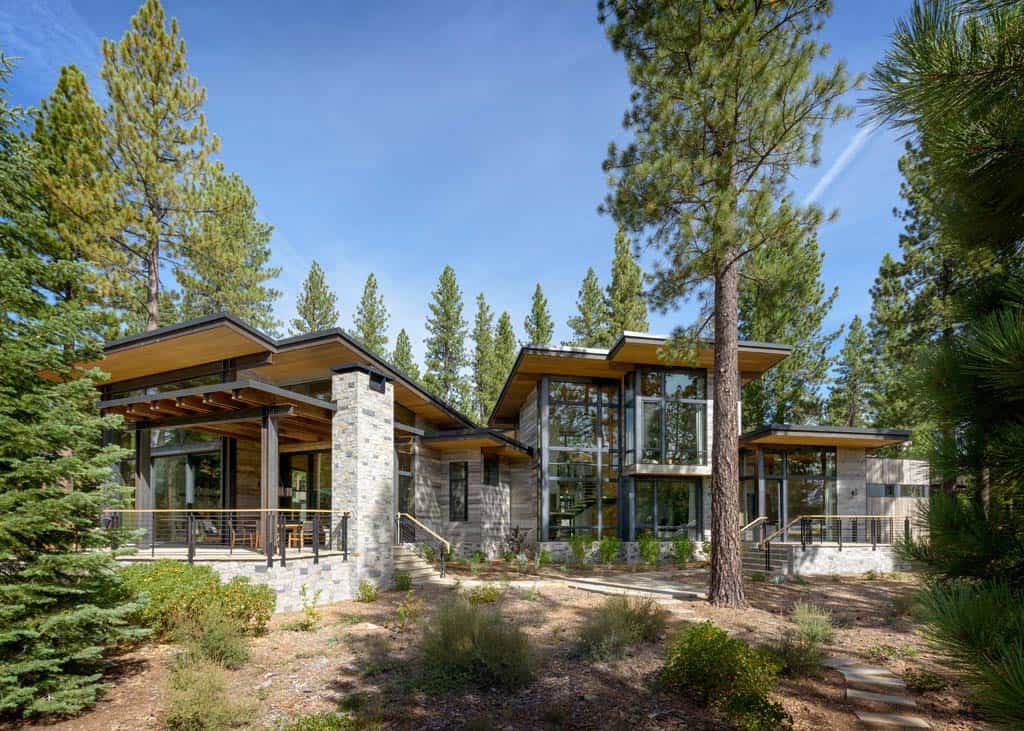Breathtaking modern mountain retreat with rustic nuances for Mtn house