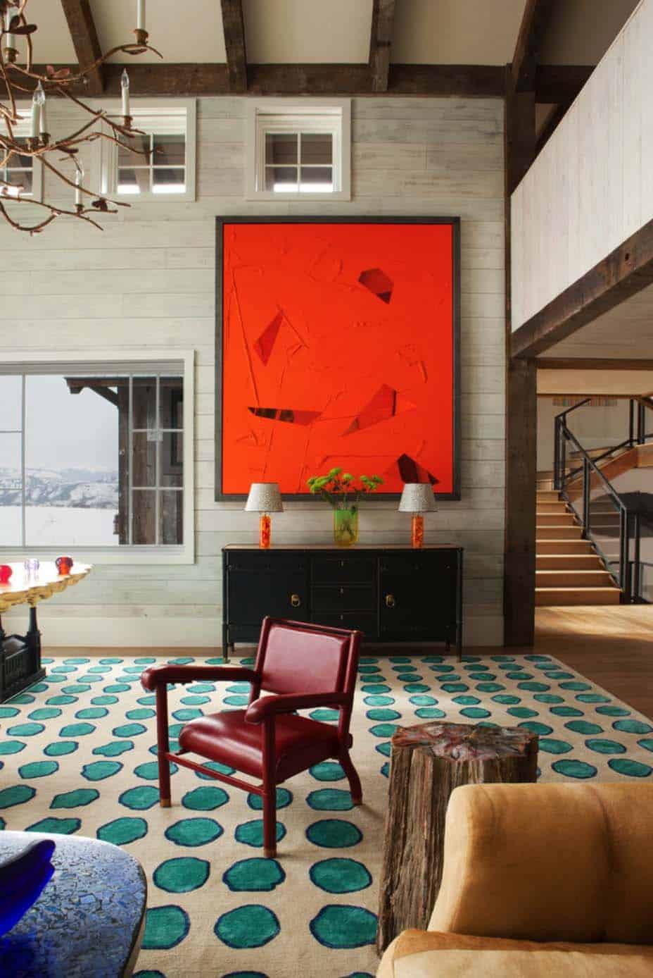 Modern Rustic Mountain Retreat-Frank de Biasi Interiors-03-1 Kindesign