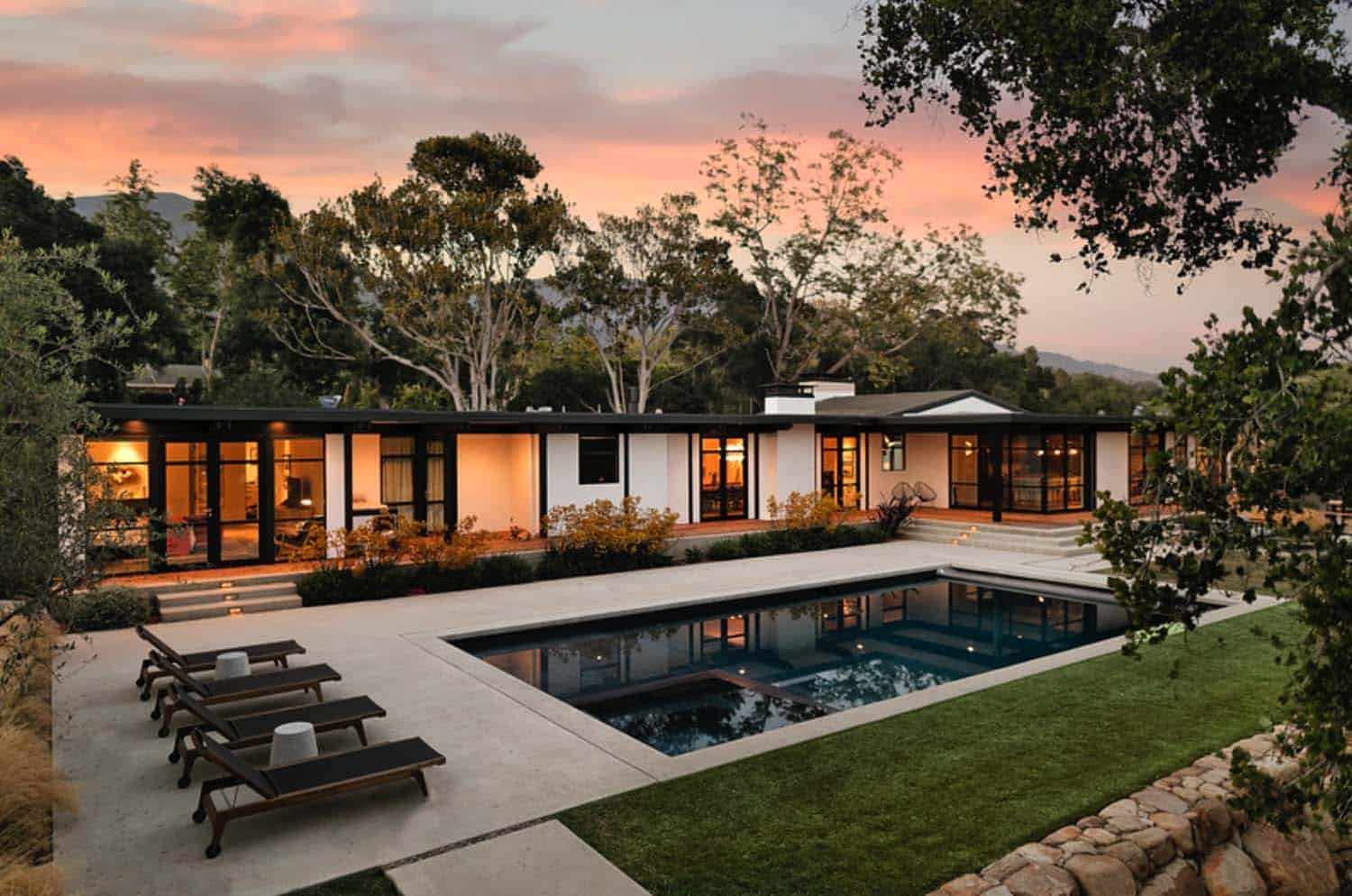 Montecito family home gets remarkable indoor outdoor makeover for Backyard makeover with pool