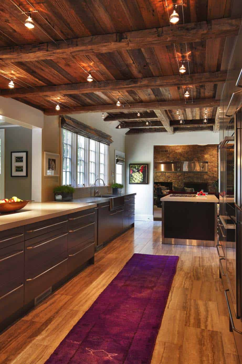 Farm House Renovation At Home Design 05 1 . Above: The Kitchen Features A  Gorgeous Modern Rustic Aesthetic.