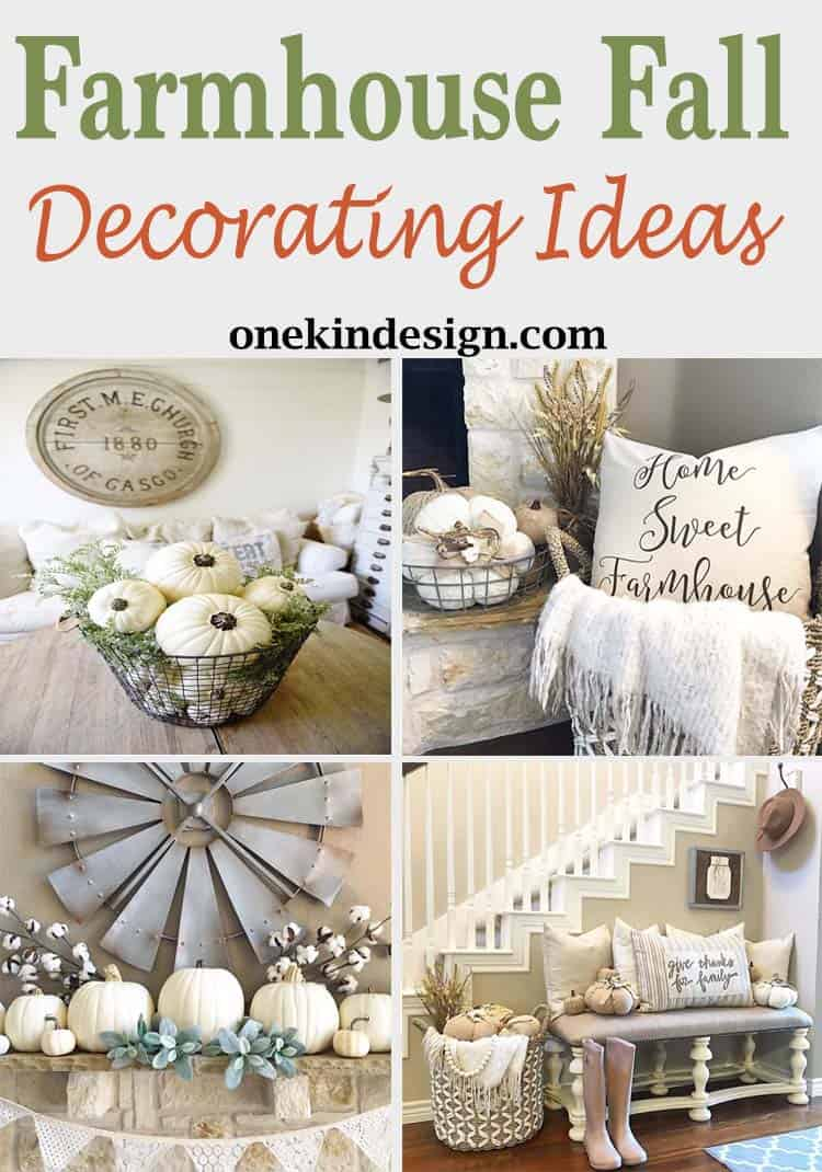 50 absolutely gorgeous farmhouse fall decorating ideas for Decoration ideas