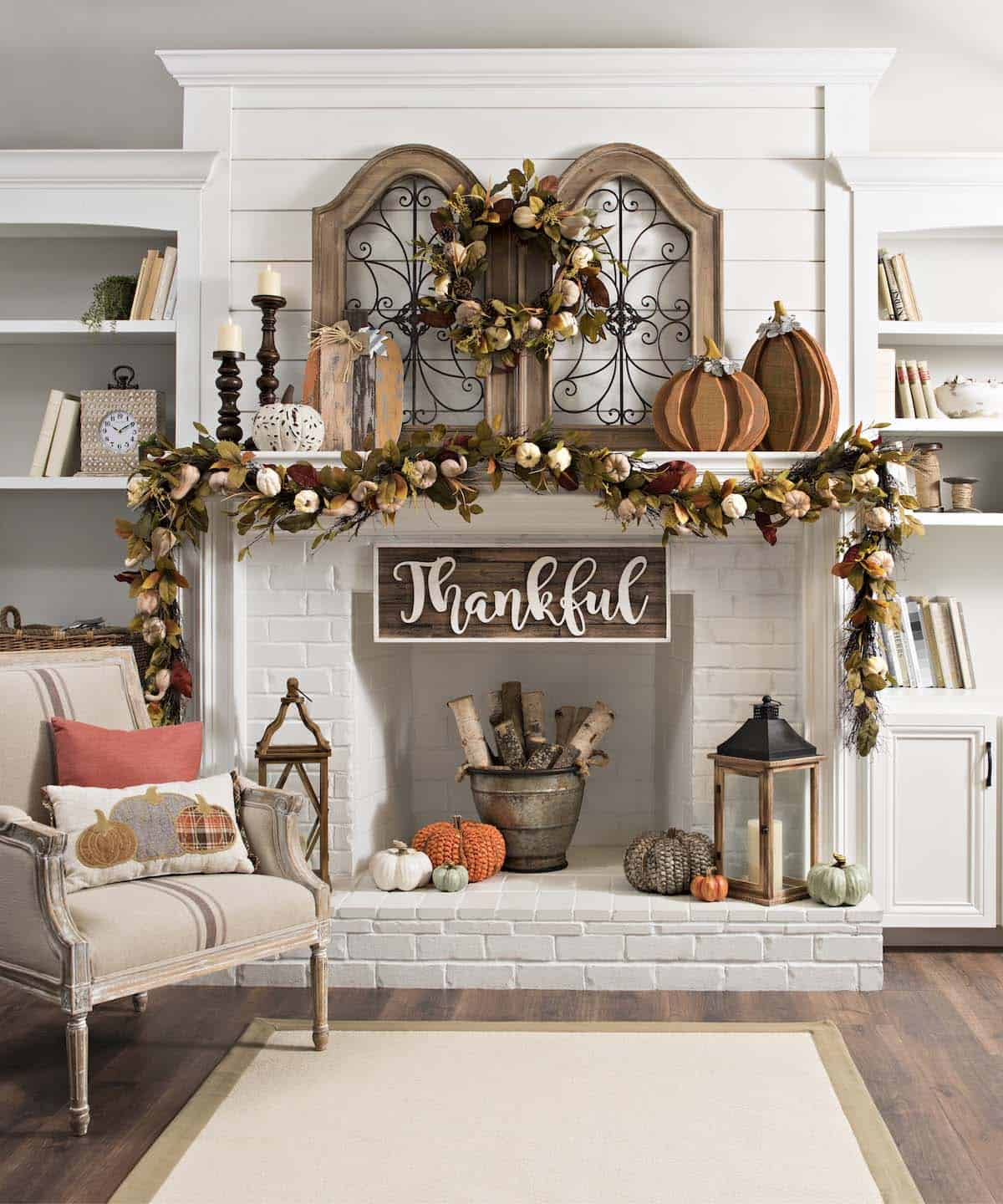 Living Room Fall Decorating Ideas