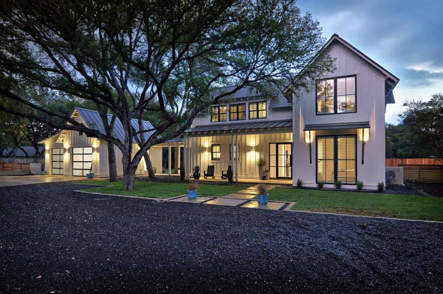 Modernized texas farmhouse filled with eye catching details for Modern farmhouse architecture plans