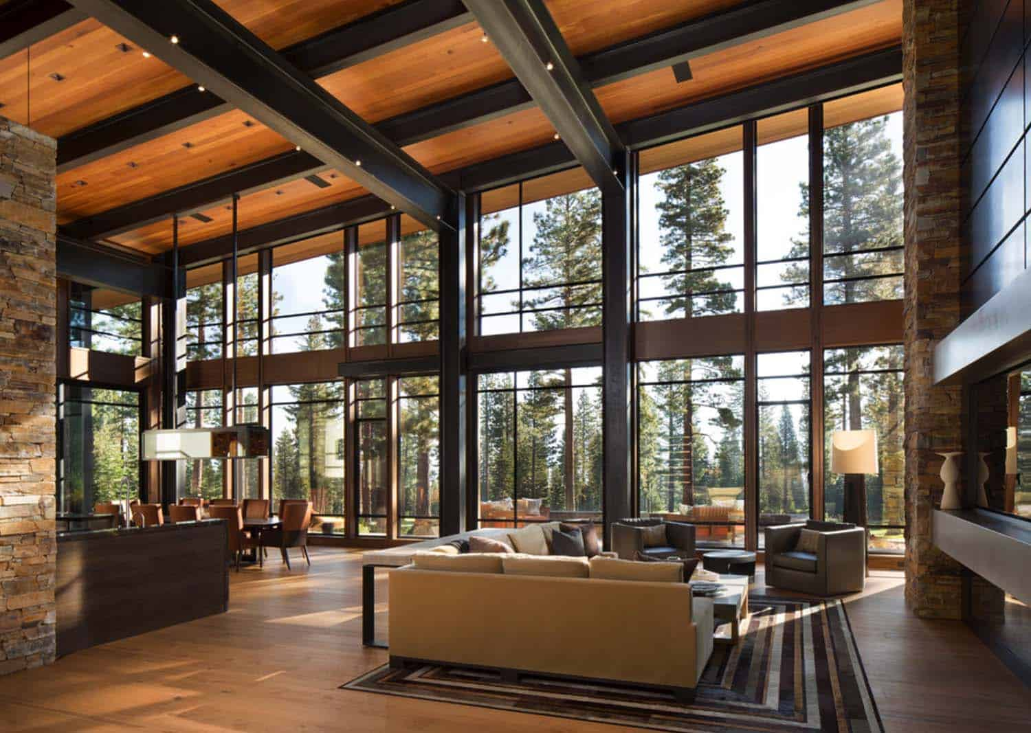 Fabulous mountain modern retreat in the high sierras for Modern home interior designs