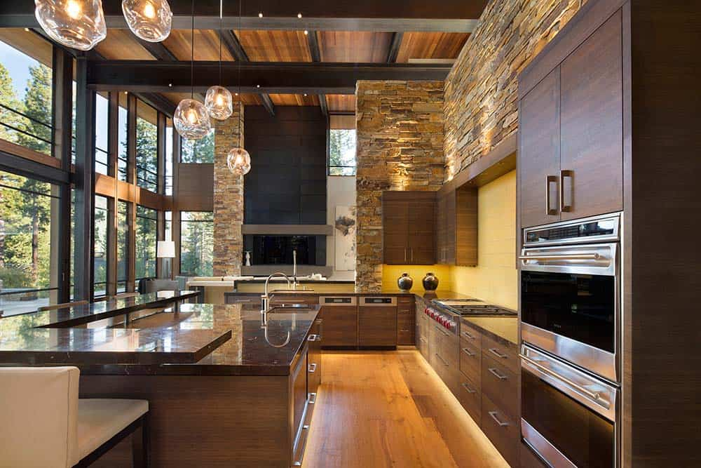 Fabulous mountain modern retreat in the high sierras for Interior design images kitchen