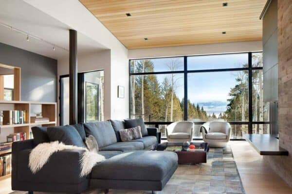 featured posts image for Mountain home in Wyoming inspired by its surroundings