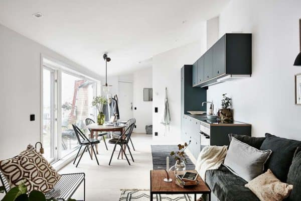 featured posts image for Compact attic apartment provides stylish refuge in Sweden