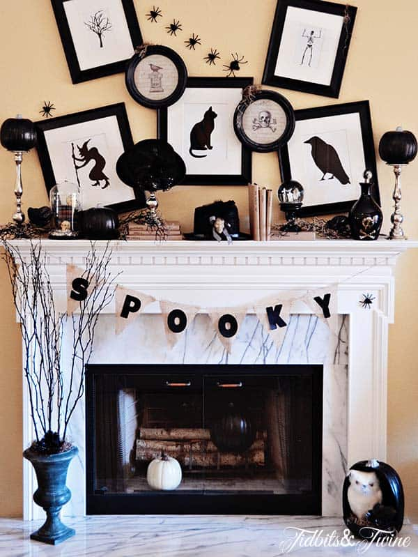 Spooky Halloween Mantel Decorating Ideas 32 1 Kindesign Part 53