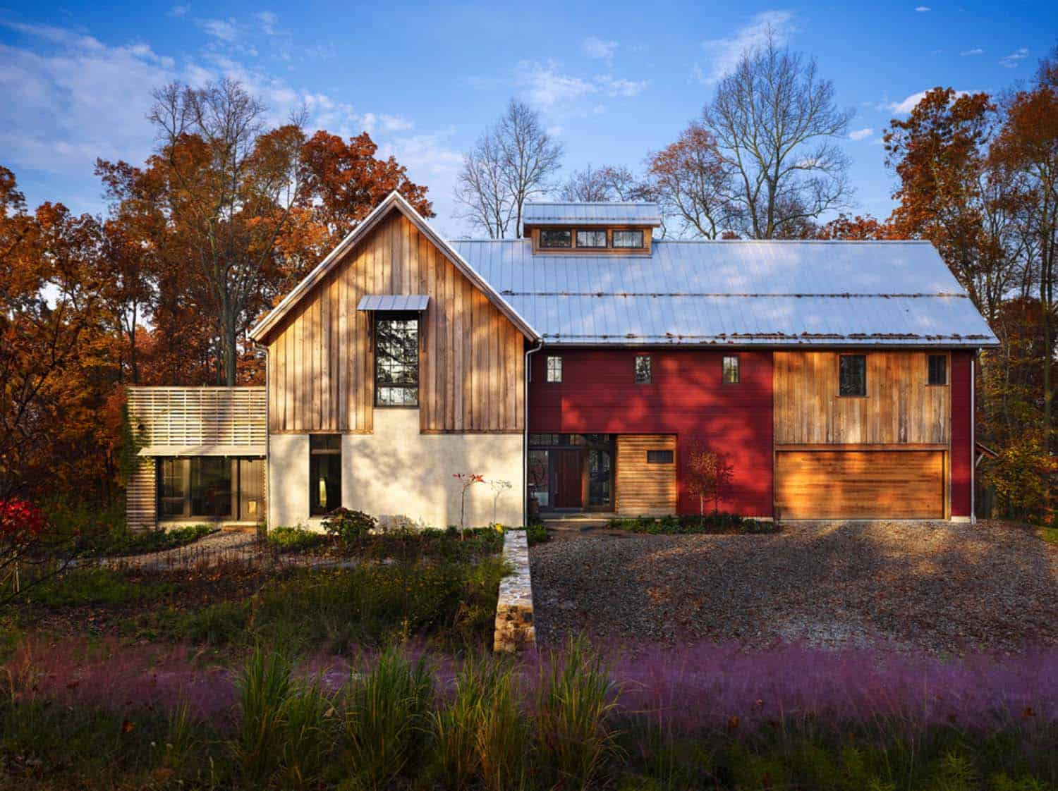 Modern Home Design Floor Plans Sustainable Modern Rustic Barn House In Pennsylvania